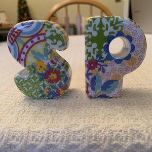 """""""S"""" & """"P"""" Salt and Pepper Shakers Multicolor"""